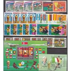 Сток Футбол Набор 27 марок 2 блока (гашеные)