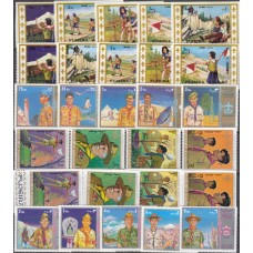 Скауты Набор 6 серий(все марки негашеные) 2 серии без зубцов 4 с зубцами