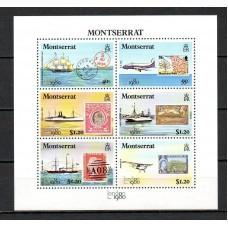 Корабли Марка на марке, Монсеррат 1980, Корабли, самолеты, выставка London1980
