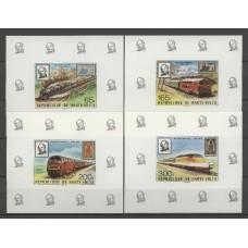 Железная дорога Верхняя Вольта 1979, Поезда Железная дорога Марка на марке Роланд Хилл, полная серия в люкс-блоках(редкая)