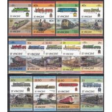 Железная дорога Сент Винсент 1984-1987, Набор марок 26 штуки