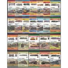 Железная дорога Тувалу 1984-1986, Набор марок 48 штуки