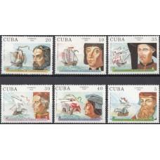 Корабли Куба 1992, Парусники и путешественники, серия 6 марок