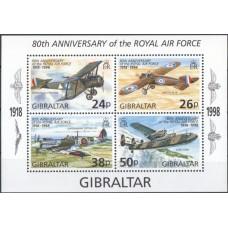 Авиация Гибралтар 1998, Самолеты Королевские ВС, блок Mi: 33