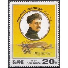 Авиация КНДР 1987, Самолет Теннис Ролан Гаррос, марка Mi: 2889