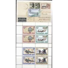 Авиация Гамбия 1983, Авиация и воздухоплавание, полная серия в малых листах с блоком