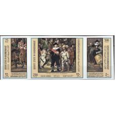 Живопись Аден Куаити Хадрамат 1967, Живопись Рембрандт, серия 3 марки без зубцов