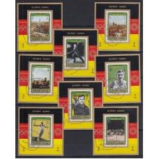 Олимпиада Аджман 1971, Мюнхен-72, серия 8 люкс-блоков (гашеная)