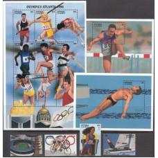 Олимпиада Антигуа и Барбуда 1996, Атланта-96 серия 4 марки 2 блока 1 малый лист