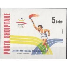 Олимпиада Албания 1992, Барселона-92 блок Mi: 96B без зубцов